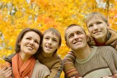 Portret rodzinny relaksować Obrazy Royalty Free