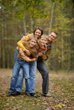 Portret rodzinny relaksować Zdjęcie Stock