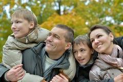 Portret rodzinny relaksować Obrazy Stock
