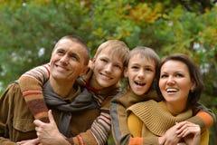 Portret rodzinny relaksować Zdjęcia Royalty Free