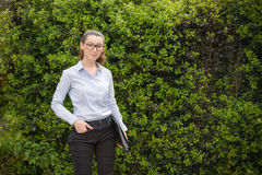 Portret rolnik, agriculturist, kultywator i biznesu wom, Zdjęcie Stock