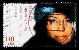 Portret Romy Schneider, opieka społeczna: Międzynarodowy filmów aktorów seria około 2000, Zdjęcia Stock