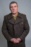 Portret Rosyjski oficer wojskowy Obraz Royalty Free