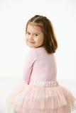 Portret roześmiana mała dziewczynka Obraz Stock