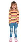 Portret roześmiana mała dziewczynka Zdjęcie Stock