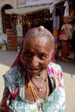 Portret Roześmiana Rajasthani kobieta obraz royalty free