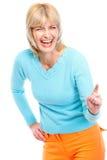 Portret roześmiana starsza kobieta fotografia stock