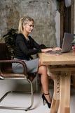 Portret rozochocona biznesowa kobieta Obraz Stock
