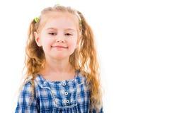 Portret rozochocona blondynki dziewczynka Zdjęcie Royalty Free