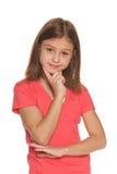 Portret rozważna ładna dziewczyna obrazy royalty free