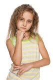 Portret rozważna mała dziewczynka obrazy stock