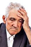 Portret rozważny stary człowiek obraz royalty free