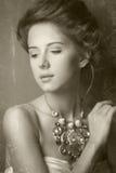 Portret rudzielec edvardian kobiety Zdjęcie Stock