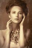 Portret rudzielec edvardian kobiety Obrazy Royalty Free