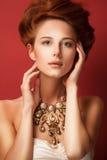 Portret rudzielec edwardian kobiety Zdjęcia Royalty Free