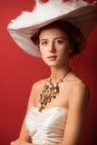 Portret rudzielec edwardian kobiety Zdjęcia Stock