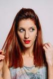 Portret rudzielec kobieta zdjęcia stock