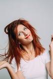 Portret rudzielec kobieta Zdjęcia Royalty Free