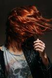 Portret rudzielec kobieta Fotografia Royalty Free