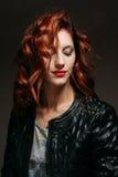 Portret rudzielec kobieta Obraz Stock