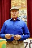 Portret sławna amerykańska końska instruktor legenda Monty Roberts Obraz Stock