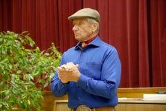 Portret sławna amerykańska końska instruktor legenda Monty Roberts Zdjęcie Stock