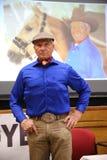Portret sławna amerykańska końska instruktor legenda Monty Roberts Zdjęcia Stock