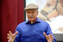 Portret sławny amerykański koński instruktor legendy Monty Ro Obraz Stock