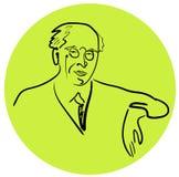 Portret sławny Rosyjski nauczyciel, dyrektor, aktor, pisarz, założyciel Moskwa sztuki teatr Stanislavsky royalty ilustracja