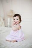 Portret słodka dziewczyna troszkę w domu Fotografia Royalty Free