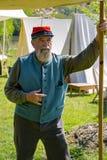 Portret samiec konfederat Reenactor obrazy stock