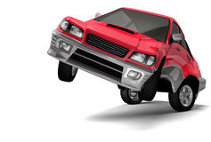 portret samochodowa ekspresyjna czerwień Zdjęcia Stock
