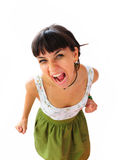 Portret of screaming woman Royalty Free Stock Images