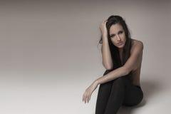 portret seksowna brunetka Zdjęcie Stock