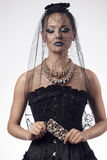Portret seksowna gothic kobieta Fotografia Royalty Free