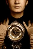 portret sepiowy dziewczyna Fotografia Stock