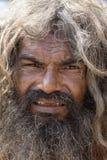 Portret Shaiva sadhu, święty mężczyzna w Varanasi, India Fotografia Royalty Free