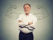 Portret silny stary człowiek Obrazy Royalty Free