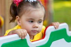 Portret smucenie mała dziewczynka Obraz Stock