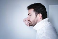 Portret smutny zadumany mężczyzna Obraz Royalty Free