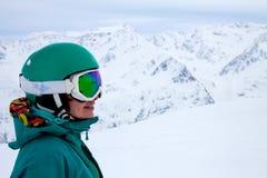 Portret snowboarder Zdjęcie Royalty Free