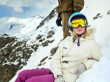 Portret snowboarder w zima kurorcie Obraz Royalty Free