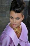 Portret splendor brunetki model Zdjęcia Royalty Free