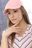 Portret sporty dziewczyna Obrazy Royalty Free