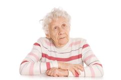 portret stara kobieta Obrazy Stock