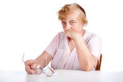 portret stare kobiety Zdjęcie Stock