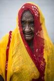 Portret starsza Indiańska kobieta zdjęcia royalty free