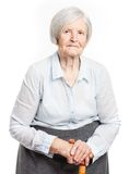 Portret starsza kobieta patrzeje kamerę Obrazy Royalty Free