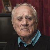 Portret starsza osoba mężczyzna zbliżenie Fotografia Royalty Free