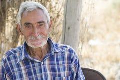 Portret Starszego mężczyzna strzału Ardabil Horyzontalna prowincja Fotografia Royalty Free